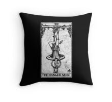The Hanged Man Tarot Card - Major Arcana - fortune telling - occult Throw Pillow