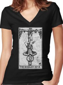 The Hanged Man Tarot Card - Major Arcana - fortune telling - occult Women's Fitted V-Neck T-Shirt
