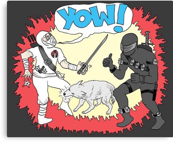 Wolf Beats Ninja by Jason Young