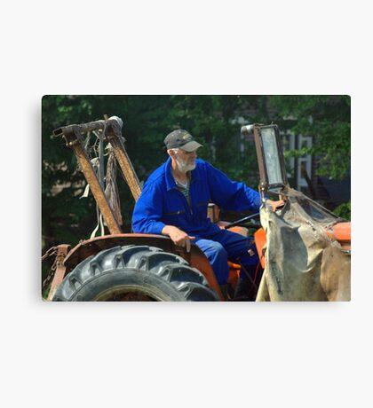 Farmer at work Canvas Print