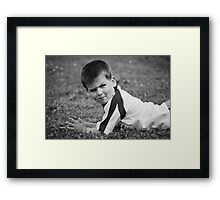 Game Face On Framed Print
