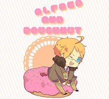 Chibi Alfred & Doughnut by Makiechan