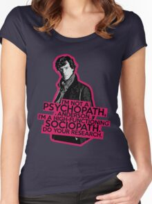 Sherlock - Sociopath not Psychopath Women's Fitted Scoop T-Shirt