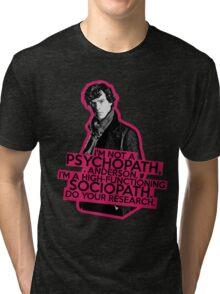 Sherlock - Sociopath not Psychopath Tri-blend T-Shirt