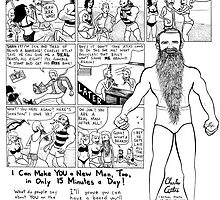 Bearded Charles Atlas by Jason Young