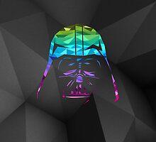 Darth Vader Geometric iPhone Case by hacketjoe