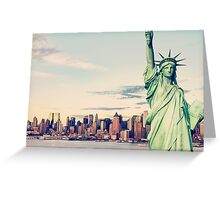 New York City panorama with Manhattan Skyline over Hudson River Greeting Card