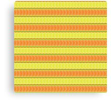 seamless pattern with lemon, orange and abstract leaf Canvas Print
