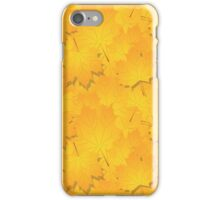 seamless pattern of  many autumn yellow leaves iPhone Case/Skin