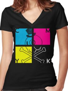 Live & In Color Women's Fitted V-Neck T-Shirt