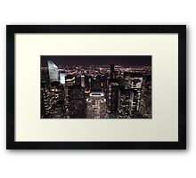 New York Night Skyline Framed Print