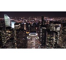 New York Night Skyline Photographic Print