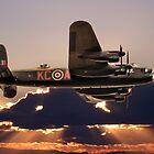 Lancaster Bomber At Dusk by Paul Madden