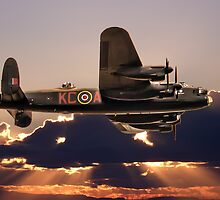 Lancaster Bomber At Dusk by Paul Madden