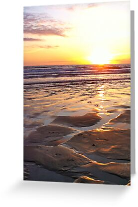 Sunset over Woolacombe Bay by Revd Andy Barton