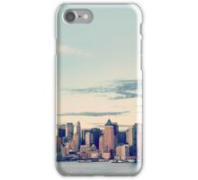 New York City panorama with Manhattan Skyline over Hudson River iPhone Case/Skin
