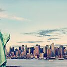 New York City panorama with Manhattan Skyline over Hudson River by Noel Moore Up The Banner Photography