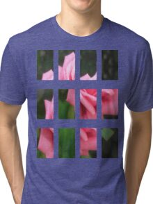 Pink Roses in Anzures 4 Art Rectangles 2 Tri-blend T-Shirt
