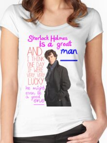 BBC Sherlock: Lestrade Quote. Women's Fitted Scoop T-Shirt