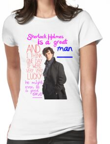 BBC Sherlock: Lestrade Quote. Womens Fitted T-Shirt