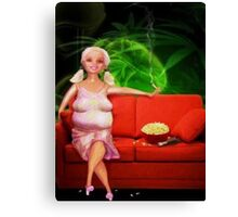 Over The Hill Barbie Canvas Print