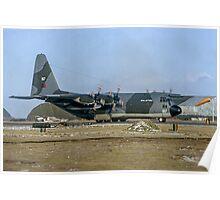 Falklands Shuttle Hercules Reversing Poster