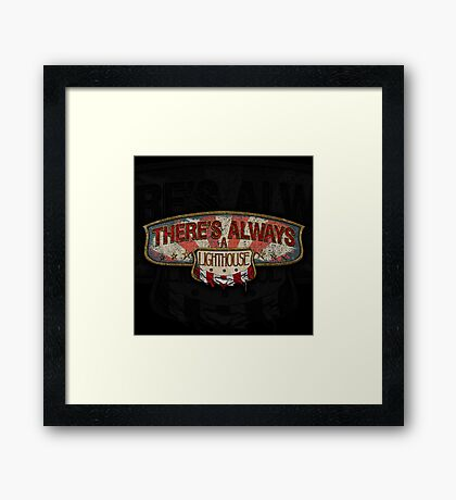 There's Always A Lighthouse Framed Print