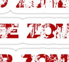 arghh zombies! Sticker