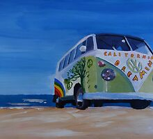 Surf Bus Series - California Dreaming VW Bus by artshop77