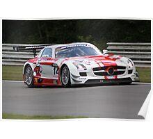 Mercedes AMG SLS GT3 - Hetherington and Minshaw Poster