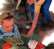 Plant A Victory Garden Our Food Is Fighting -- WW2 Sticker