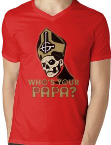 WHO'S YOUR PAPA? - browns Mens V-Neck T-Shirt