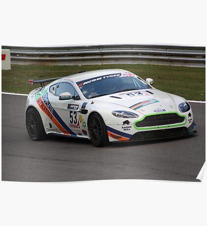 Chaplin and Wilson - Aston Martin GT4 Vantage Poster