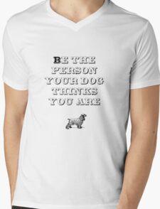 Be the Person - Cocker Spaniel Mens V-Neck T-Shirt