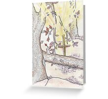 Cross In The Woods Greeting Card