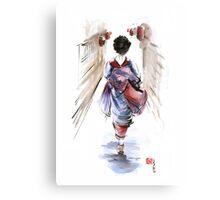Geisha Japanese woman in kimono original Japan painting art Canvas Print