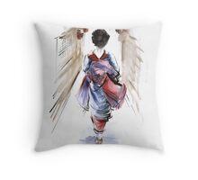 Geisha Japanese woman in kimono original Japan painting art Throw Pillow