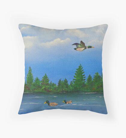 Maine Mallards Throw Pillow
