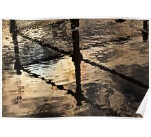 Abstract Water Reflections Poster