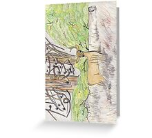 Buck In The Wood Greeting Card