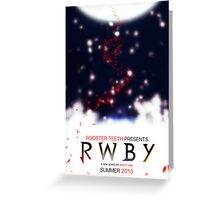 RWBY Movie Poster Red Like Roses Greeting Card