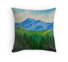 A Mountain Retreat Throw Pillow