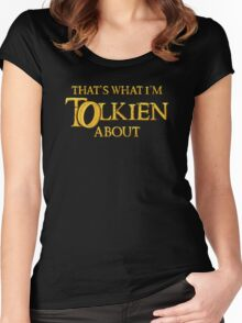 Let's Tolk About It Women's Fitted Scoop T-Shirt
