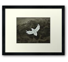 White Crow original painting Framed Print