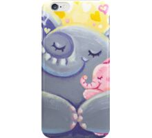 Hug - Rondy the Elphant and his Mom iPhone Case/Skin