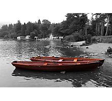 2 Little Boats Brockhole Windermere Photographic Print