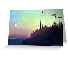 desert view at twilight, buzzard roost Greeting Card