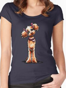 Girly Apricot Poodle Women's Fitted Scoop T-Shirt