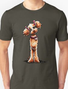 Girly Apricot Poodle Unisex T-Shirt