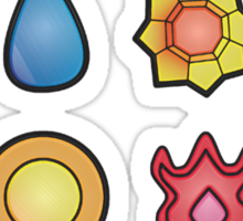 The Kanto Gym Badges Sticker